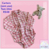 Body Camisa Carters (sem uso!) - 2 anos - CARTERS/TIPTOP/ZARA