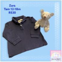 Polo Zara Marinho - 12 a 18 meses - Zara