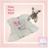 Blusa Poim Glitter - 1 ano - Poim