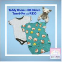 Body Teddy Boom + BB Básico - 6 a 9 meses - Teddy Boom