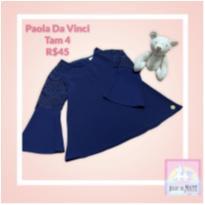 Blusa Marinho Paola Tam 4 - 4 anos - Paola Da Vinci