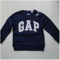 Blusa de Moletom 4 anos  GAP Azul Marinho Original - 4 anos - Gap Kids e GAP