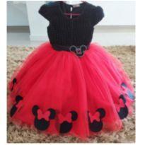 Vestido Festa Minnie Luxo -  - Produzido em Atelier