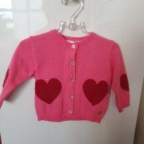 Cardigan/blusa linda! - 6 a 9 meses - Paola tricot