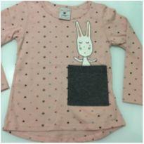 Tshirt coelhinho com bolso - Póim - 2 anos - Póim