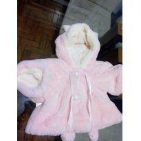 Casaco de ursinho rosa bem quentinho - 6 a 9 meses - Não informada e Marca não registrada