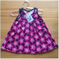 vestido evasê floral - 6 meses - Kyly