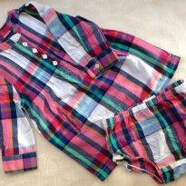 Vestido Xadrez Tommy Hilfiger - 9 a 12 meses - Tommy Hilfiger