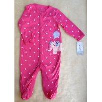 Macacão Pink Elefantinha 6m - 6 meses - Carter`s