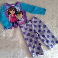 Pijama Flanelinha Dora Aventureira - 12 a 18 meses - Carter`s