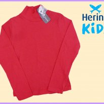 FP289. Blusa Gola Alta Coral - 8 anos - Hering