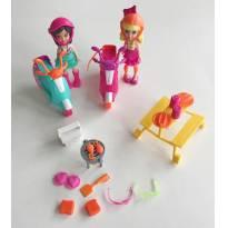 FP354. Polly Piquenique de moto -  - Polly Pocket e Mattel