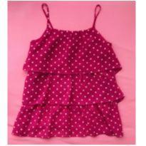Blusa alcinha pink - 10 anos - Não informada
