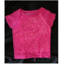 Blusa Paetês Pink - 8 anos - Old Navy