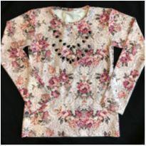 Blusa Coladinha Floral - 12 anos - Kiki Xodó