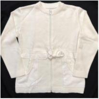 Casaco Branco Tricô