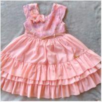 Vestido Flores de festa - 3 anos - Cattai