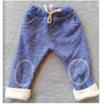 Calça com forro felpudo - 6 a 9 meses - Importada