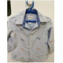 Camisa Social Dinossauros Carters - Menino - Usada 1 vez apenas!! - 9 meses - Carter`s