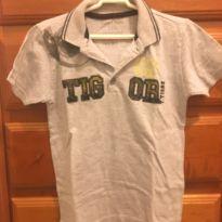 Camiseta polo cinza Tigor - 6 anos - Tigor T.  Tigre
