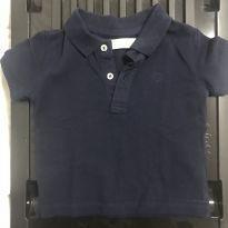 Polo Azul Marinho - 9 a 12 meses - Zara