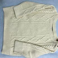 Blusa Tricot Bege - 6 a 9 meses - Baby Gap