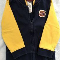 Moletom azul marinho e amarelo - 18 meses - Child of Mine