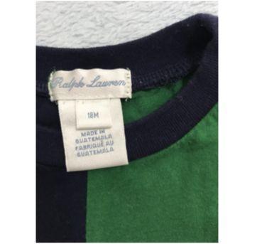 Camiseta azul e verde - 18 meses - Ralph Lauren