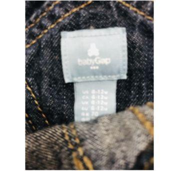 Linda jardineira jeans - 6 a 9 meses - Baby Gap