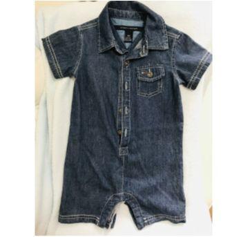 Macacão jeans curto - 1 ano - Tommy Hilfiger