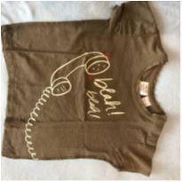 Linda camiseta marrom Zara - 18 a 24 meses - Zara Baby