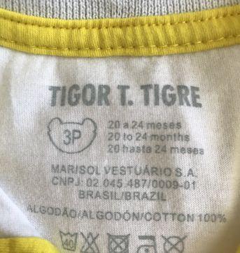 Camisa Polo TIgor - 18 a 24 meses - Tigor T.  Tigre