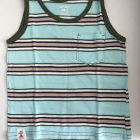Camiseta regata listrada verde - 2 anos - Carter`s