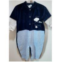 Macacão  `Friends` - Bicho Molhado - Azul - 6 a 9 meses - Bicho Molhado