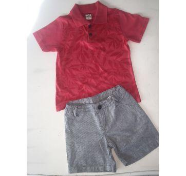 Conjunto Shorts e Camisa - 3 anos - Não informada