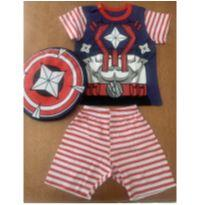 Pijama Capitão América - 2 anos - Veggi