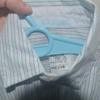 Camisa social listrada - 12 a 18 meses - Babies