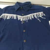 Camisa Country Cowboy com Franja - 6 anos - sem etiqueta