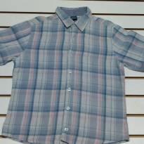 Conjunto Calça Jeans Camisa  xadrez  M/ Curta - 10 anos - DM e Figurinha