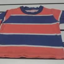 Camiseta M longa Listrada - 18 a 24 meses - Kyly