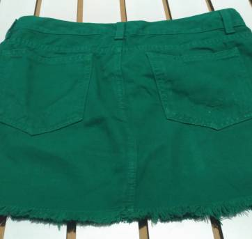saia verde -  denim - PP - 36 - Denim