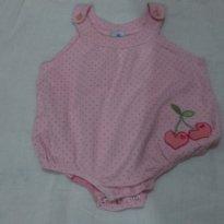 Lindo body rosa de bolinha tamanho M - 3 meses - Tip Top
