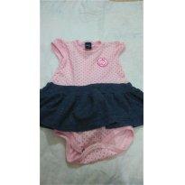 Lindo body vestido , rosa tamanho M - 3 meses - Basic + Baby