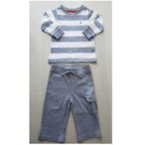 Conjunto bebê em malha da Tommy - 6 a 9 meses - Tommy Hilfiger