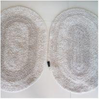 Kit 2 tapetes capacho em linha algodão da Domani -  - Não informada