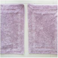 Kit 2 tapetes em linha de algodão lilás Domani -  - Não informada