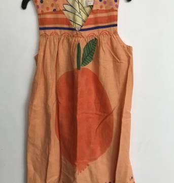 Vestido estampado laranja Fábula! Tam 6 - 6 anos - Fábula