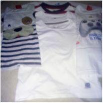 Lote de nove camisetas manga longa número 2 - 2 anos - Hering Kids e Poim, Cherokee e Up Baby