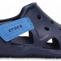 Sandália Crocs  swiftwater wave - azul marinho - 28 - Crocs