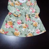 Vestido Plush Verde Floral Kyly - 9 a 12 meses - Kyly